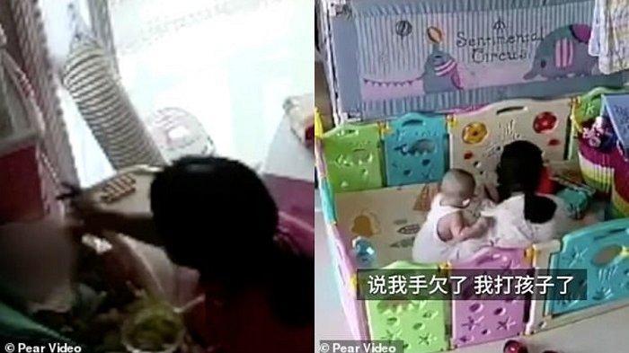 Video Baby Sitter Tampar Bayi 11 Bulan Berulang Kali, Gara-Gara Kesal Dimarahi Majikan