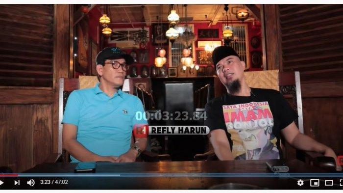 Pakar Hukum Tata Negara Refly Harun dan Ahmad Dhani (Tangkap Layar YouTube Refly Harun).