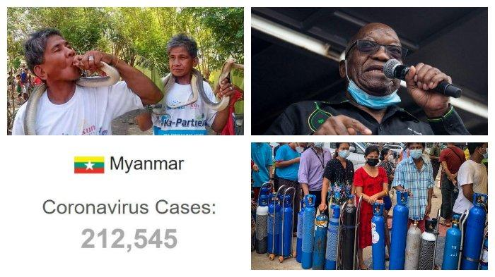 POPULER Internasional: Pawang Ular Tewas Digigit Ular | Junta Myanmar Disebut Menimbun Oksigen