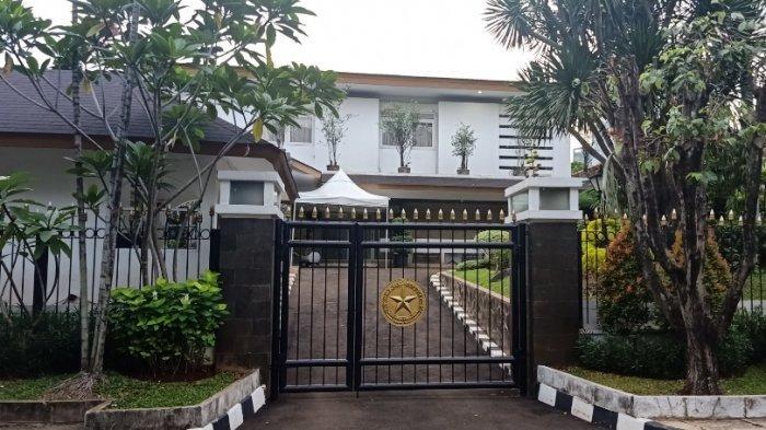 Suasana rumah dinas menteri agama di  Jalan Widya Chandra, Jakarta Selatan pada Selasa (22/12/2020).