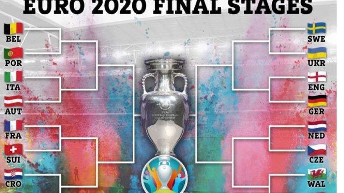 Jadwal 16 Besar Euro 2020, Jalan Terjal Juara Bertahan, Duel Klasik Bakal Tersaji