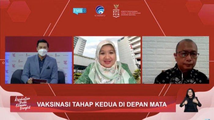 Dialog Produktif bertema Vaksinasi Tahap Kedua di Depan Mata yang diselenggarakan KPCPEN dan ditayangkan di FMB9ID-IKP, Selasa (16/2/2021).