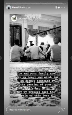 Dian Sastro tulis kesedihan kehilangan ayah mertua, Adiguna Sutowo