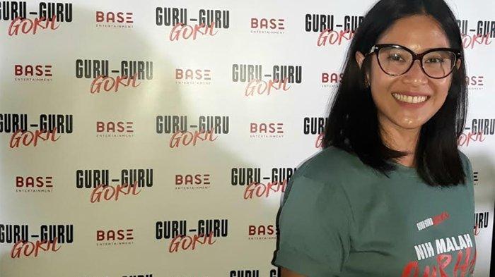 Dian Sastrowardoyo ketika ditemui disela-sela jumpa pers film 'Guru Guru Gokil', di XXI Plaza Senayan, Jakarta Pusat, Selasa (21/1/2020) malam.