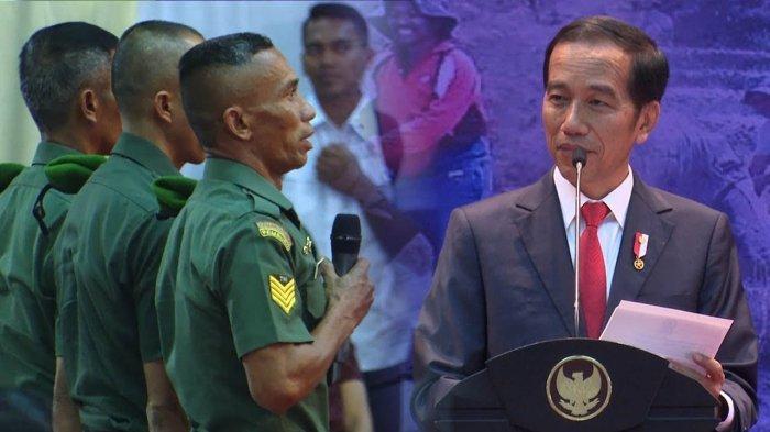 Diberi Jokowi Hadiah, Jawaban 4 Anggota Babinsa dengan Pengabdian Menonjol Buat sang Presiden Senang