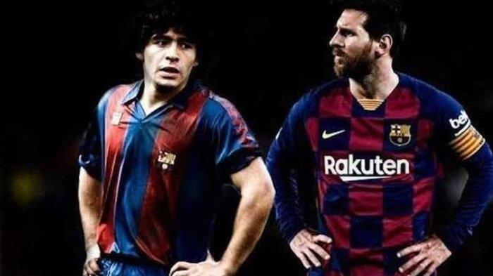 Tak Cuma Skill dan Nomor, Kini Sikap Sok Jagoan Lionel Messi Juga Mirip Diego Maradona