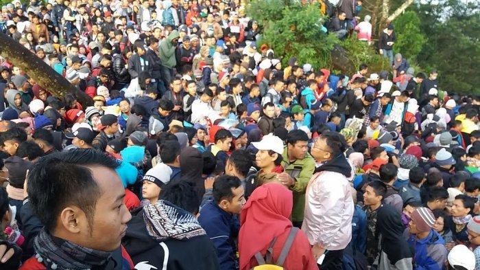 Overload, Ribuan Orang Kecewa Tak Bisa Menikmati Pergantian Tahun Baru di Bukit Sikunir Dieng