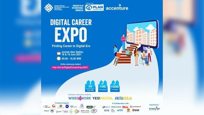Kemnaker Bersama Plan Indonesia Gelar Digital Career Expo 2021