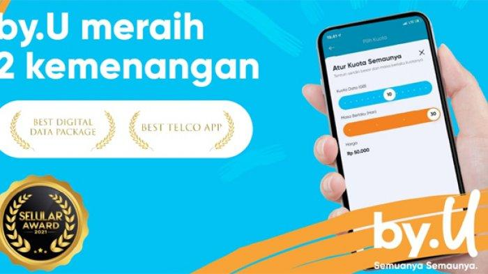Digital Provider Pertama Indonesia, by.U Sabet 2 Penghargaan Selular Award 2021