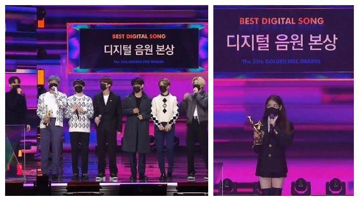 Digital Song Division Bonsang: IU, BTS