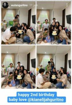 Dikabarkan gugat cerai, Wulan Guritno dan Adilla Dimitri masih bersama merayakan ultah keponakan.
