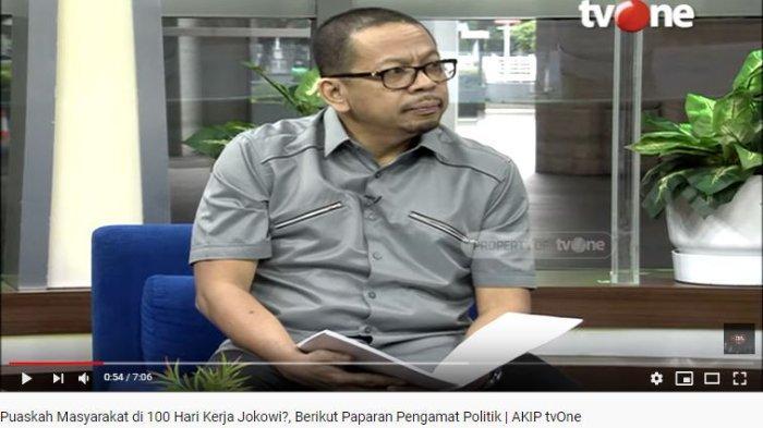 Direktur Eksekutif Indo Barometer M. Qodari membeberkan alasan mengapa masyarakat puas dan tidak puas dengan kinerja Jokowi.