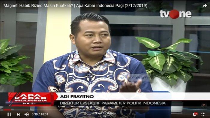 Soal Pemulangan Rizieq Shihab, Adi Prayitno Sebut Masyarakat lebih Tertarik Isu Ekonomi