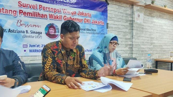 Survei LKSP Soal Pemilihan Wagub DKI: 68 Persen Warga Ibu Kota Khawatir Politik Transaksional