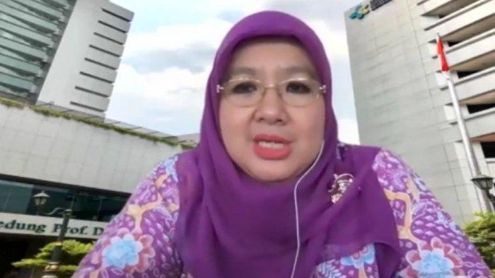 Direktur Pencegahan dan Pengendalian Penyakit Menular Langsung (P2ML) Kementerian Kesehatan, dr Siti Nadia Tarmizi, dalam konferensi pers virtual, Jumat (5/2/2021).