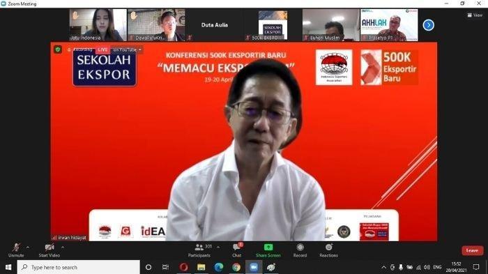 """Direktur Sido Muncul Irwan Hidayat pada Konferensi 500 Ribu Eksportir Baru dengan tema """"Memacu Ekspor UMKM, Selasa (20/4/2021)."""