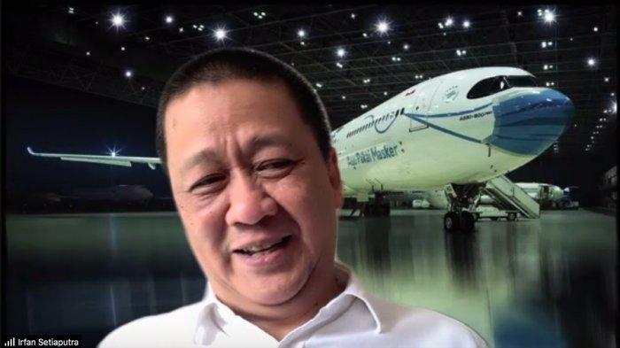 Direktur Utama PT Garuda Indonesia (Persero) Tbk Irfan Setiaputra