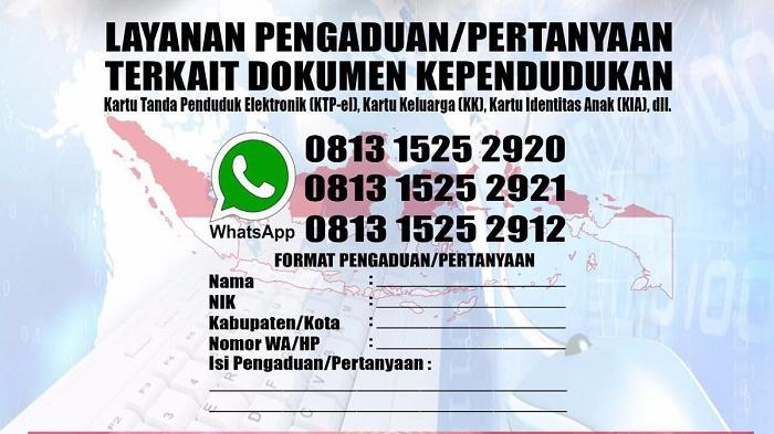 Kesulitan Bikin E-KTP, KK, KIA? WhatsApp Aja!