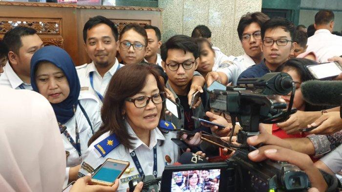 Dirjen Perhubungan Udara Polana B Pramesti di kantor Kemenhub, Jakarta, Senin (9/12/2019).