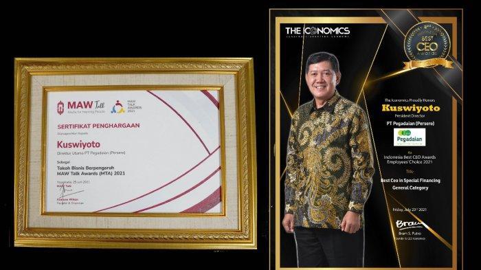 Dirut Pegadaian Kuswiyoto Raih 2 Penghargaan CEO 2021