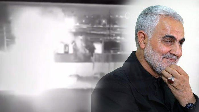 Disebut Picu Perang Dunia, Ini CCTV Detik-detik Jenderal Iran Qassem Soleimani Tewas Diserang Rudal