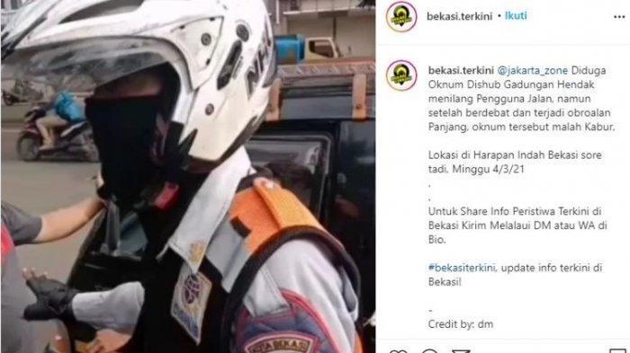 Viral Video Oknum Berseragam Dishub Bekasi Tilang Mobil Pick Up, Belakangan Pelaku Disebut Gadungan