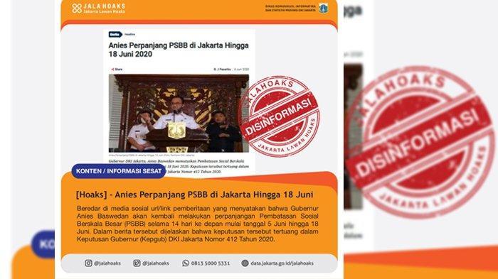 Disinformasi soal beredarnya kabar soal perpanjangan PSBB DKI Jakarta.jpg