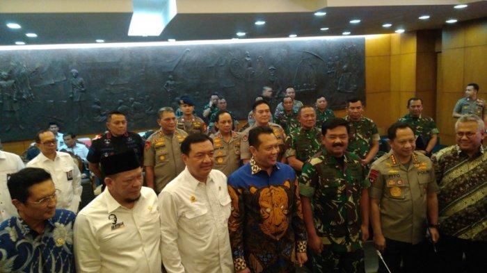 Dari Panglima Hingga Kepala BIN Hadiri Rapat Pengamanan Pelantikan Presiden