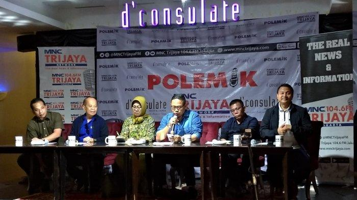 Diskusi Polemik bertajuk 'Utak Atik Manuver Elite', di kawasan Menteng, Jakarta Pusat, Sabtu (27/7/2019).