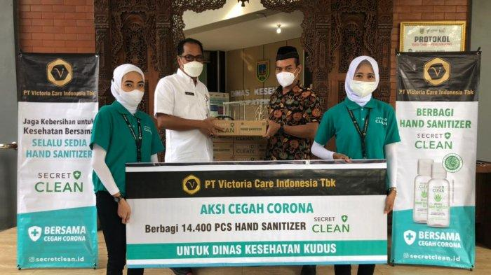 Gotong Royong Lawan Pandemi, Dunia Usaha Gelontorkan Ribuan Hand Sanitizer ke Kudus dan Ponorogo