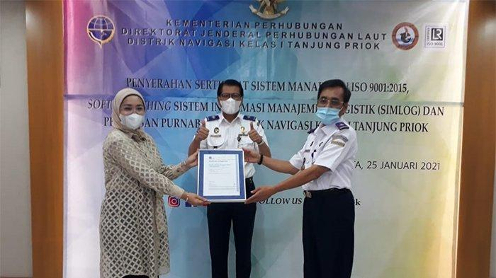 Distrik Navigasi Kelas I Tanjung Priok Peroleh ISO 9001:2015