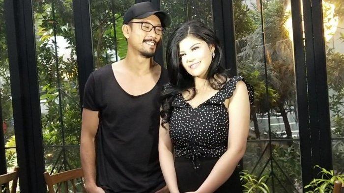 Dita Soedarjo dan Denny Sumargo saat menggelar konferensi pers di kawasan Kuningan, Jakarta Selatan, Sabtu (15/12/2018).