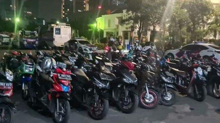 Bubarkan Aksi Balap Liar di Jalan Tentara Pelajar, Polisi Sita dan Tilang Puluhan Sepeda Motor