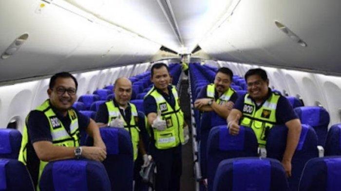 Jaga Standar Laik Sanitasi, Direksi Sriwijaya Air Bersih-bersih Pesawat