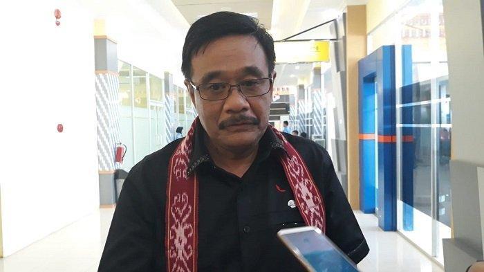 Ketua DPP PDIP Bidang Ideologi dan Kaderisasi Djarot Saiful Hidayat di sela konsolidasi partai di Kabupaten Sintang, Kalimantan Barat, Sabtu (14/9/2019)