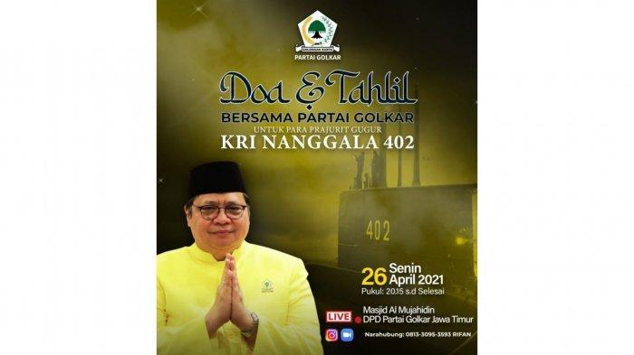 Golkar Gelar Doa dan Tahlil Bersama untuk Prajurit KRI Nanggala 402