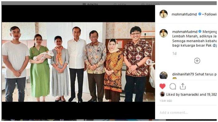 Doa Mahfud MD untuk cucu ketiga Jokowi