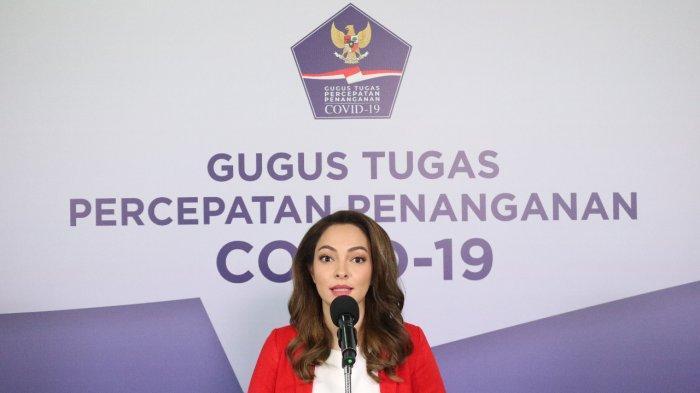 Dokter Reisa, sebagai Tim Komunikasi Publik Gugus Tugas Nasional saat konferensi pers di Kantor BNPB, Jakarta, Sabtu (13/6/2020)