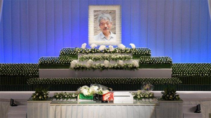 Suasana penguburan Dr. Tetsu Nakamura di Fukuoka sore ini (11/12/2019).