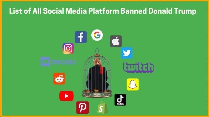 Donald Trump diblokir dari berbagai platform media sosial