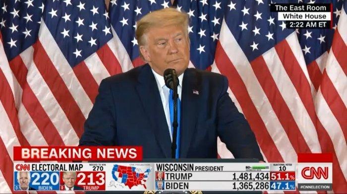 Merasa Dicurangi, Donald Trump Lontarkan Klaim Tak Berdasar Tentang Pilpres AS, Ini Fakta-faktanya