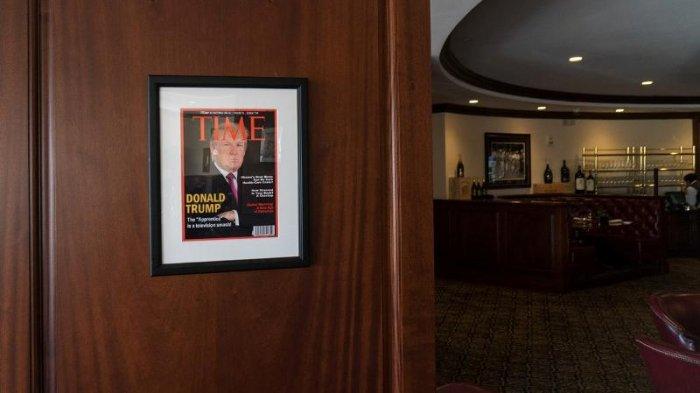 TIME Minta Klub Golf Trump Tak Pasang Foto Sampul Majalah Palsunya