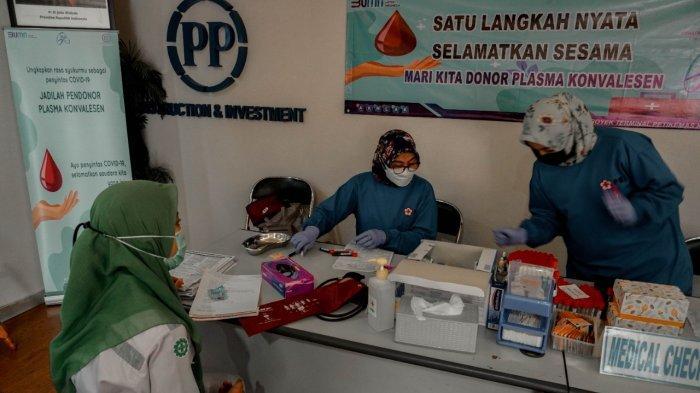 Tangani Pandemi, Kegiatan Donor Plasma Konvalesen Diadakan di Proyek Pelabuhan Peti Kemas