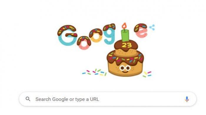 Google Doodle Hari Ini Rayakan Ulang Tahun Google ke-23, Ini Sejarah Singkat Berdirinya Google