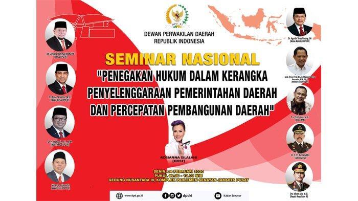 DPD RI Akan Gelar Seminar Pencegahan KKN Pada Penyelenggaraan Pemda