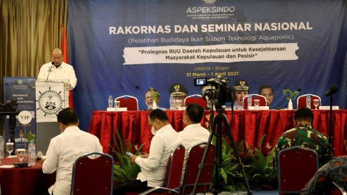 Ketua DPD RI Sampaikan 9 Substansi RUU Daerah Kepulauan Saat Seminar Nasional Aspeksindo
