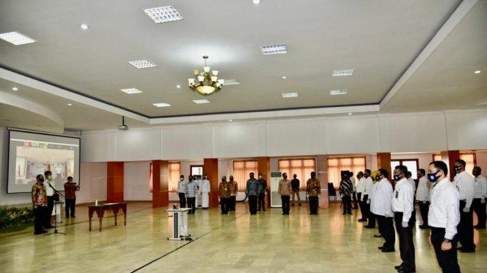 Pengukuhan Dewan Pengurus Pusat Ikatan Alumni IPDN Dilakukan dengan Protokol Kesehatan Ketat