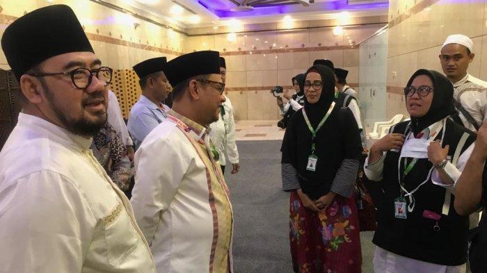 Anggota DPR RI mengunjungi hotel jemaah haji Indonesia di sektor 8 di wilayah Misfalah, Makkah, Minggu (4/8/2019) petang waktu Arab Saudi.