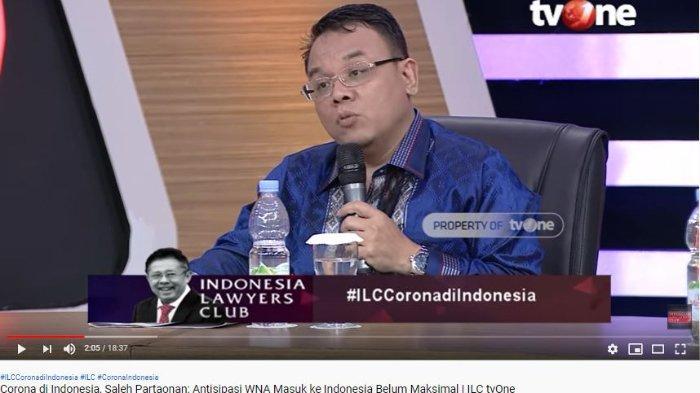 Bahas Virus Corona di ILC, PAN Beberkan Kisah Teman dari Luar Negeri dalam Kondisi Demam: Bisa Lolos
