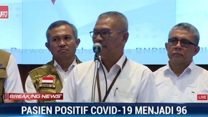 Juru bicara pemerintah Indonesia untuk penanganan virus corona, dr Achmad Yurianto dalam konferensi pers, Sabtu (14/3/2020)